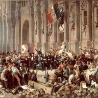 25 février 1848. Lamartine défend le drapeau tricolore