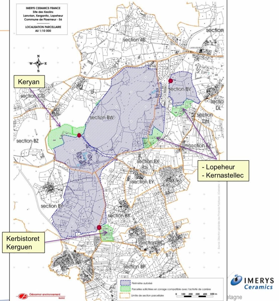 Projet d'extension de la carrière des Kaolins à Ploemeur