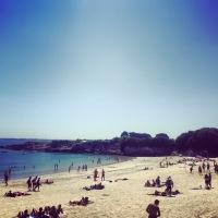Visite plage du Perello pour constater l'excellente qualité des eaux de baignades ploemeuroises