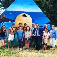 Inauguration de la fresque plage du Perello