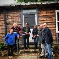 Journées européennes du patrimoine. Inauguration de la baraque canadienne sur la cité de l'habitat provisoire de Soye