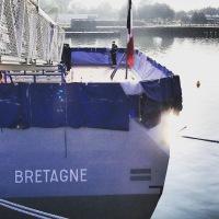 Cérémonie de prise de commandement de la nouvelle frégate multi-mission (FREMM) Bretagne