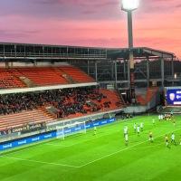 Coupe de la Ligue, match au Moustoir entre les merlus du FC Lorient et Caen